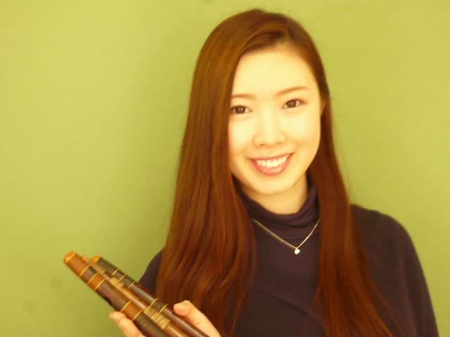 篠笛で竹美人